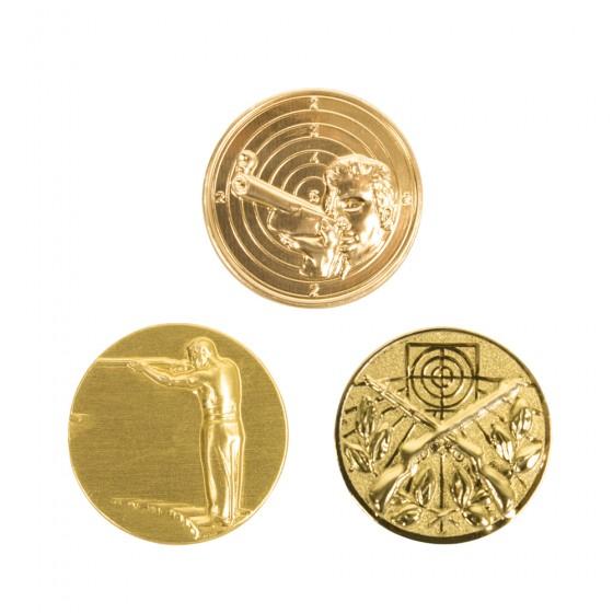 Metallemblem gylt (25 mm)