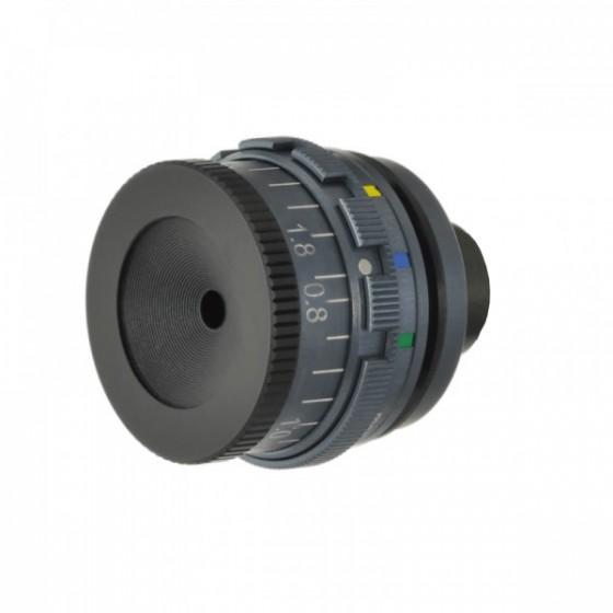 Irisblender UV400 m/5 fargefilter