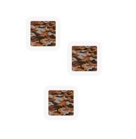 Klistrelapper rull 17x17 brun camo