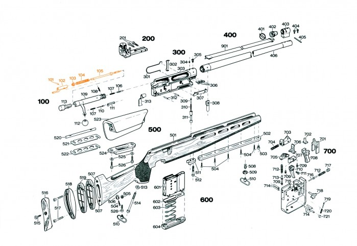 Tennstempel komplett S101-105