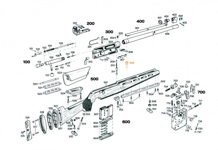 Skjefteskruetapp fremre skjefteskrue S308