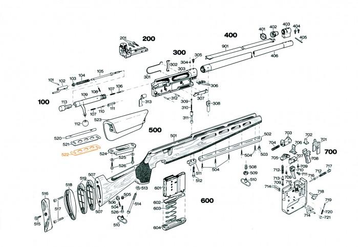 Mellomleggsplate for kinnstøtte S522